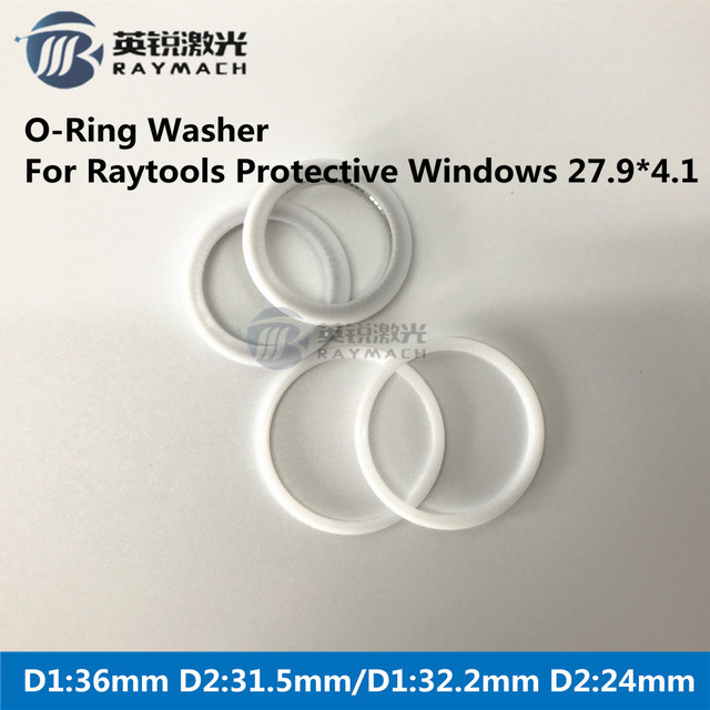 Seal Ring Fiber Laser Parts Dia 36mm/32 2mm used for RAYTOOLS Fiber Head  27 9*4 1mm Protective Windows -in Woodworking Machinery Parts from Tools on
