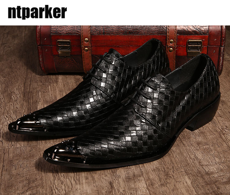 ntparker-Japanese Style Man Dress Shoes Weaving Leather Shoes Man Pointed Toe Party/Wedding/Business Shoes, Big Size EU38-46 2017 men s cow leather shoes patent leather dress office wedding party shoes basic style pointed toe lace up eu38 44 size