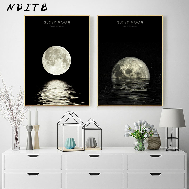 HTB1J.VPXUvrK1RjSspcq6zzSXXa9 Moon Phase Canvas Posters and Prints Minimalist Luna Wall Art Abstract Painting Nordic Decoration Pictures Modern Home Decor