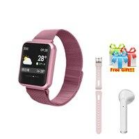 Smart bracelet+Earphone+belt/set women smartband blood pressure watch for iphone 6 7 8 X VS iwo 6 7 8 fashion activity tracker