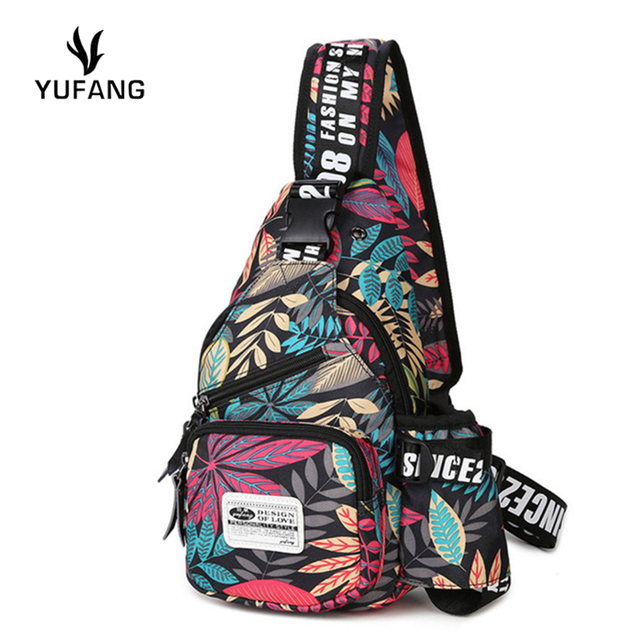 48785312fa YUFANG new men chest bag fashion japan and korean style chest back pack  high quality oxford
