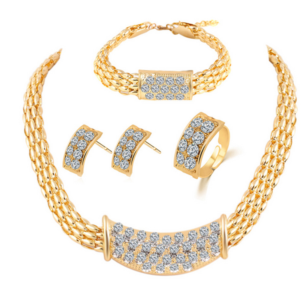 Fashion Necklaces Pendants Jewelry Watches New Crystal Collar Statement Necklace Bracelet Wedding Bridal Bridesmaid Bargain Myself Co Ls