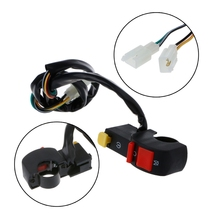 Motorcycle Handlebar Electric Starter Stop ATV Flameout Switch 4 Wire Connection