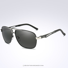 AL-MG Double Bridge Cool Men Frame Sun Glasses Polarized Mirror Sunglasses Custom Made Myopia Minus Prescription Lens -1 To -6