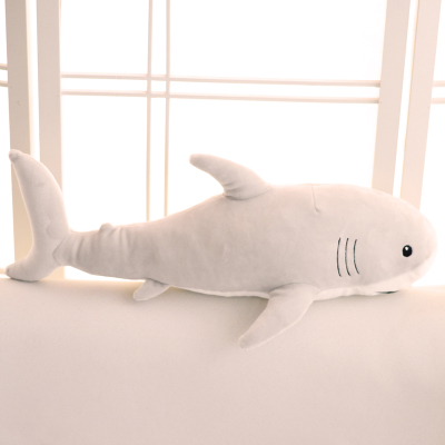 middle size plush soft shark toy stuffed light gray shark doll gift about 80cm книги эксмо загадка веры холодной