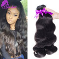 100% unprocessed 10A Brazilian Body Wave Virgin Hair 3pc Natural Black Hair Extension soft Brazilian Body wave Human Hair Weaves