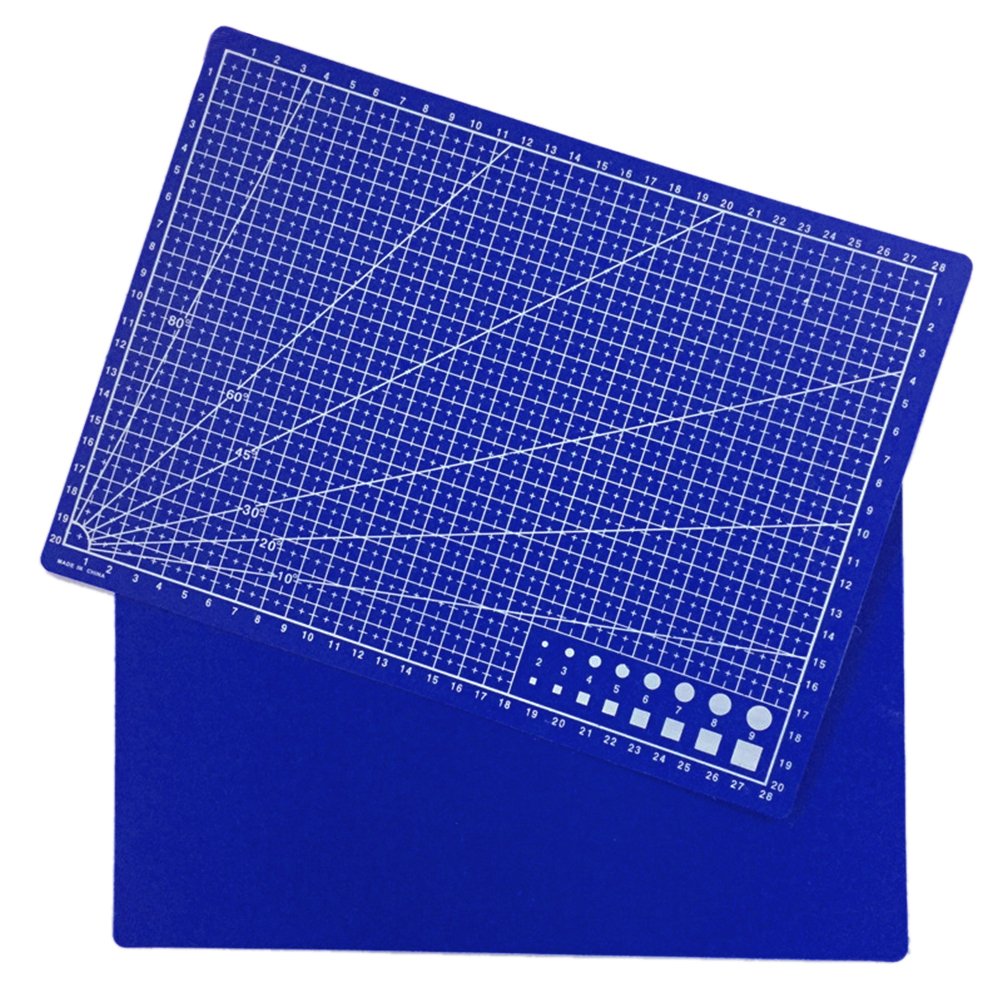 30*22cm Plastic Materials Patchwork Ruler Blue A4 Cutting Plate School Stationery Supplies Tailor A4 Cutting Mat
