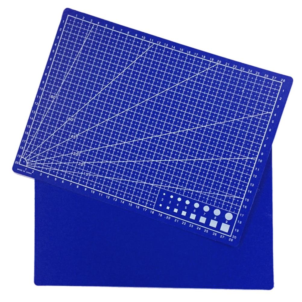 30*22cm Plastic Materials Patchwork Ruler Blue A4 Cutting Plate School Stationery Supplies Tailor A4 Cutting Mat