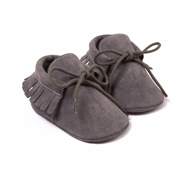 Baby Shoes 2019 Stylish PU Leather Baby Boy Girl Moccasins Soft Crib Shoes Fringe Soft Soled Non-slip Footwear First Walkers 4