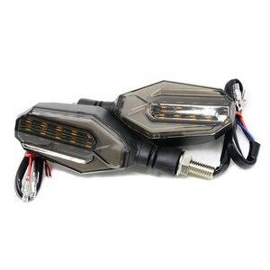 Image 2 - 유니버설 오토바이 LED 차례 신호 표시 등 깜박이 렌즈 블랙 램프 혼다 CBR250R Bmw G650GS F700GS VT 750s VFR400