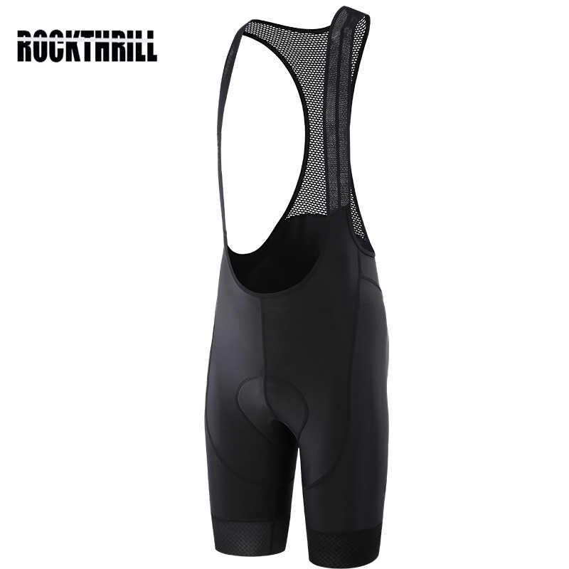 ROCKTHRILL Lycra Fietsen Bib Shorts Mountainbike heren Bike Gel Padded Panty Triathlon Man Pro Fiets slabbetjes Broek Onder dragen