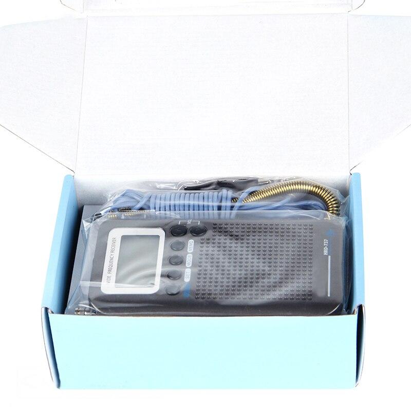Radio numérique à bande complète HRD-737 démodulateur FM/AM/SW/CB/Air/VHF Radio stéréo Portable avec affichage LCD réveil - 5