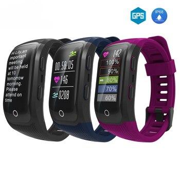 2019 S908S GPS Akıllı bant IP68 Kalp hızı Bileklik fitnes aktivite takip cihazı Smartband Bilezik Bileklik İzle