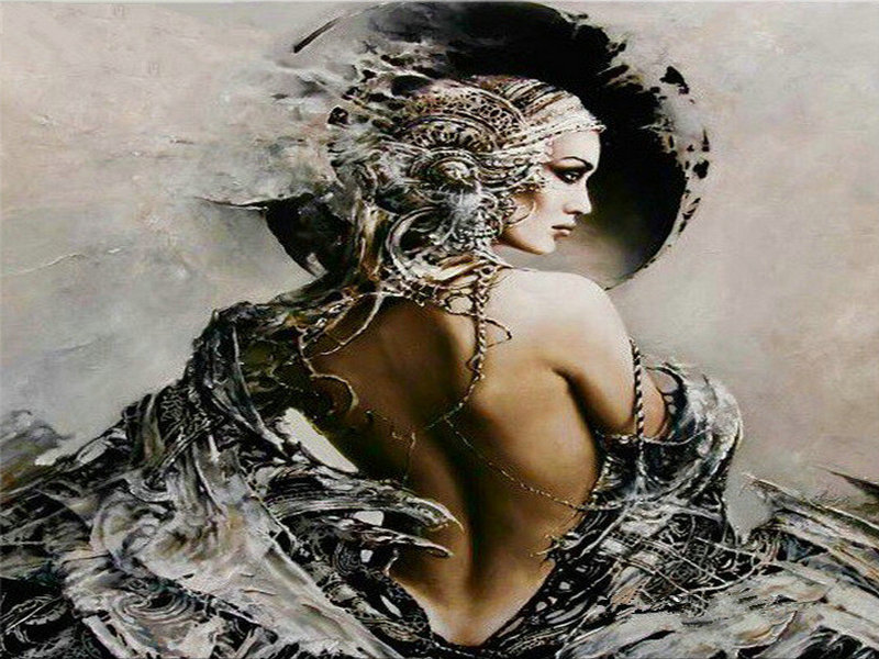 New 5d diy diamond painting drifting woman portrait 3d full square diamond embroidery crystal diamond mosaic handmade art suite
