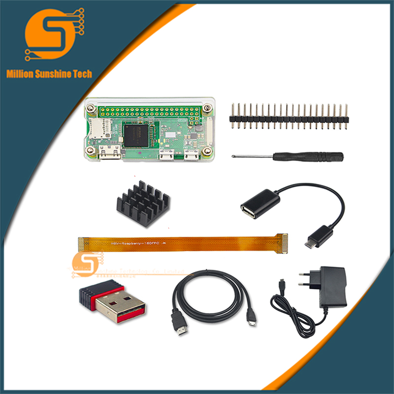 Raspberry Pie Zero/w Shell Wireless Network Card OTG Line Power Camera Connection Expansion Kit