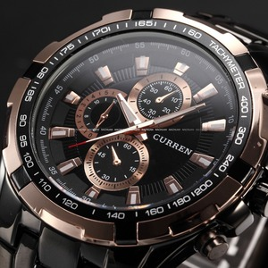 Image 2 - 2018 New Curren Luxury Brand Watches Men Quartz Fashion Casual Male Sports Watch Full Steel Military Watches Relogio Masculino
