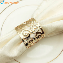 Joyathome Delicate Golden Ring Napkin Buckle Towel Christmas for Table Holder Wedding