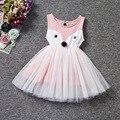Vestidos de las muchachas del Verano 2017 Niños de la Marca Vestido de Princesa Traje de Modo fox Imprimir Patrón Niños Vestidos para Niñas Ropa
