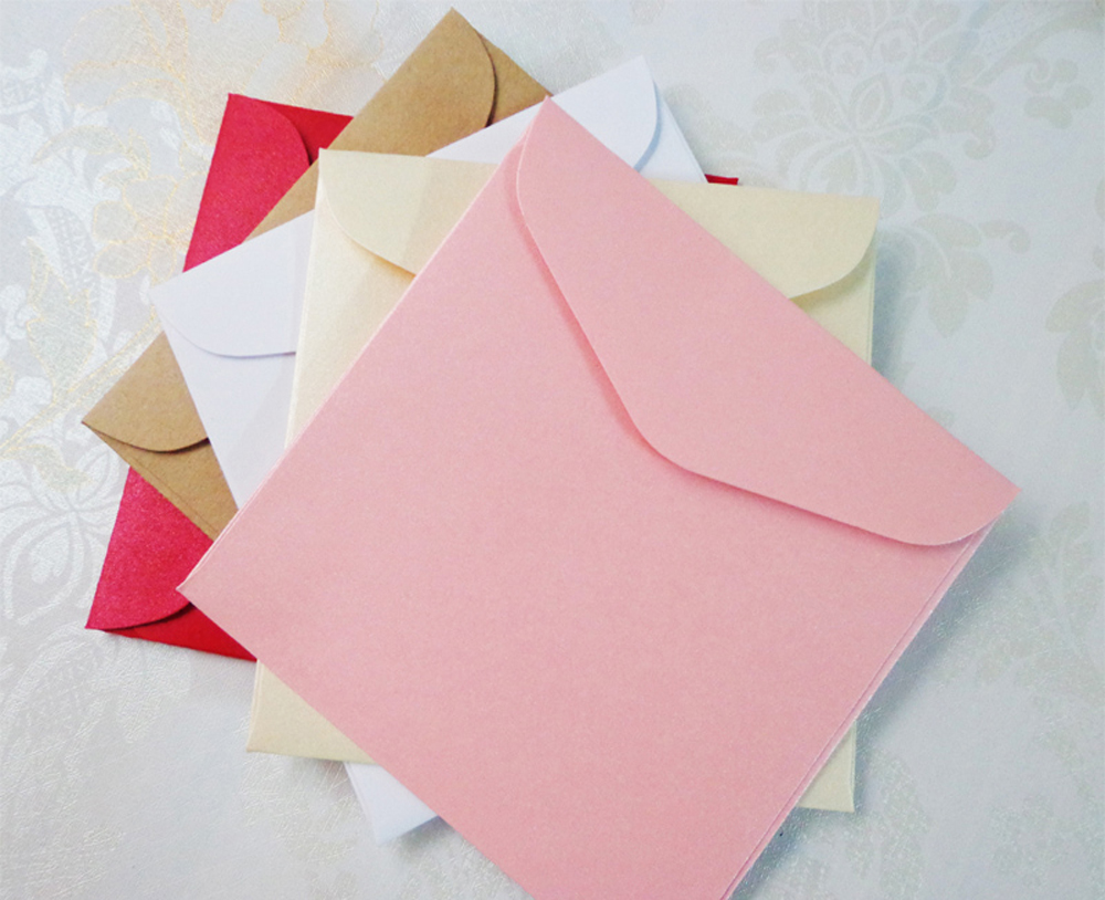 Square Leather Pearl Paper Blank Envelope High-Grade Greeting Card Small Envelope Fresh Birthday Gift Envelope 10pcs/lot 11*11cm