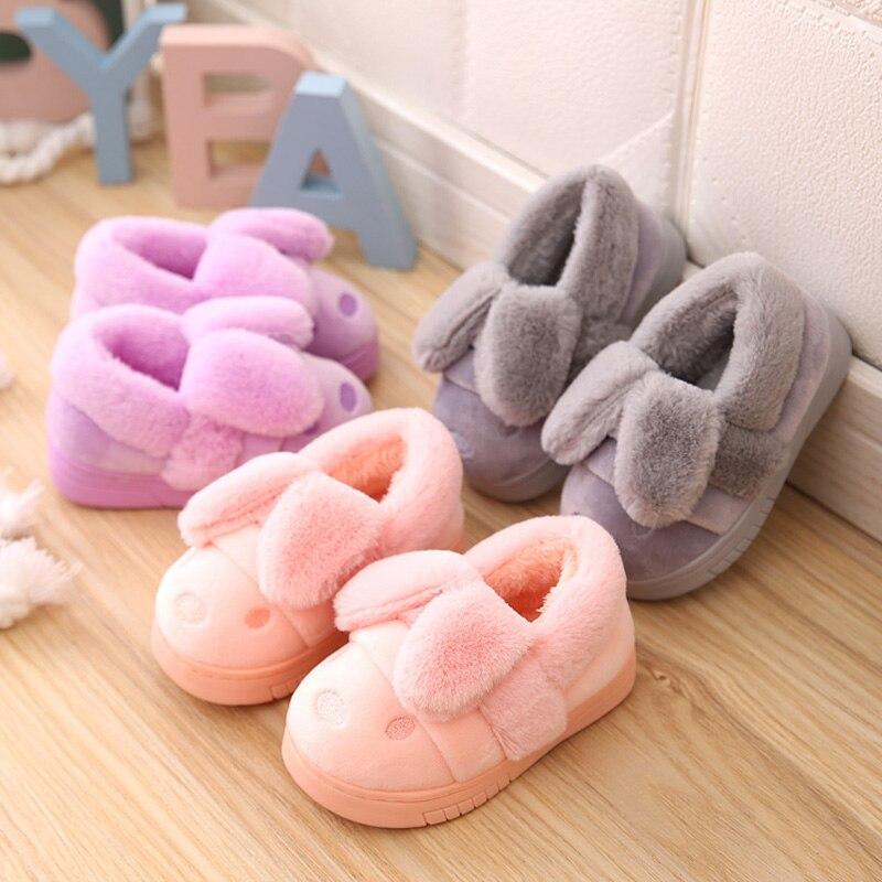 brand new cee47 0f98b US $10.44 19% di SCONTO|Bambini Pantofole A Casa Dell'interno di  Riscaldamento caldi Scarpe Invernali Capretti Del Cotone Del Bambino scarpe  stivali ...