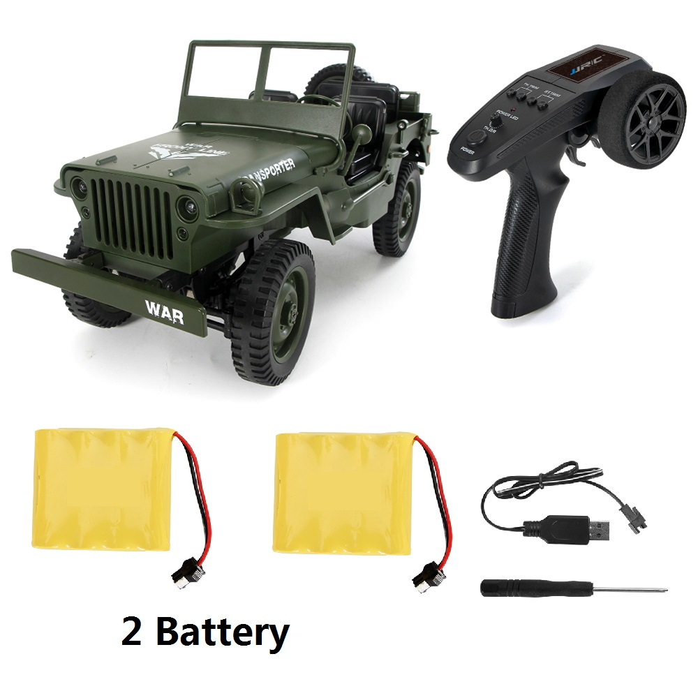 JJRC Q65 1/10 RC Car 2.4G 4WD convertible Remote Control car Light Jeep four-wheel drive off-road Military Truck climb car toy willys jeep 1 10