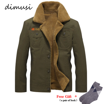 DIMUSI Mens Winter Jacket Men's Military Fleece Warm jackets Male Fur Collar Tactical Jacket Male Jaqueta Masculina 5XL,PA061