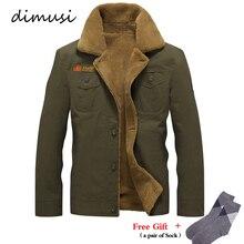 DIMUSI зимняя куртка мужская Военная Флисовая теплая куртка мужской меховой воротник пальто Мужская тактическая куртка Jaqueta Masculina 5XL, PA061