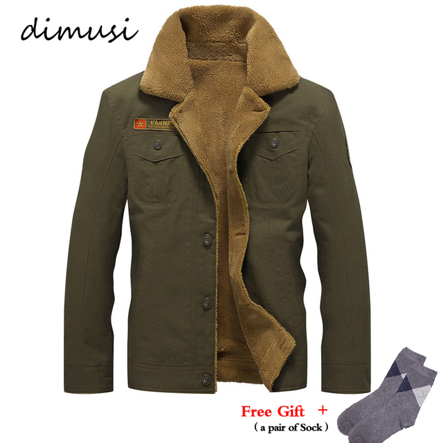 b41d99bc373 DIMUSI Winter Jacket Mens Military Fleece Warm jackets Male Fur Collar  Coats Male Tactical Jacket Jaqueta Masculina 5XL