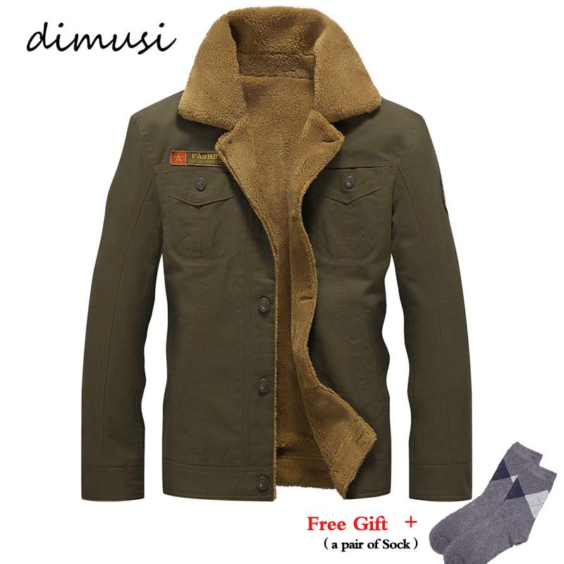 DIMUSI chaqueta de invierno para hombre chaqueta militar