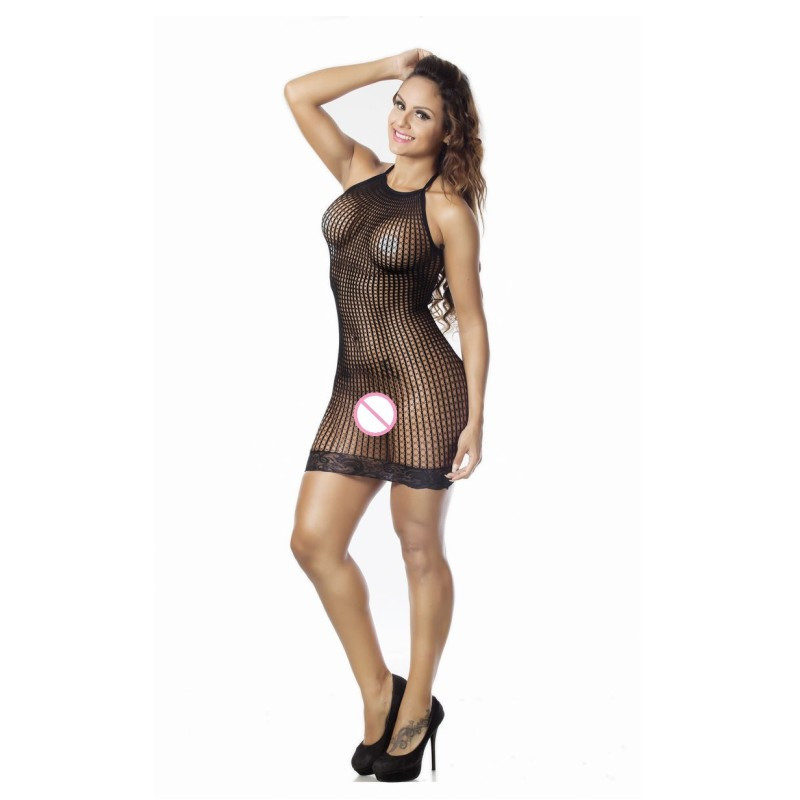 Women's Sexy Lingerie Hot Hollow Out Halter Sexy Babydoll Nightie Dress Sex Underwear Lenceria Sexy Erotic Lingerie Costumes 3
