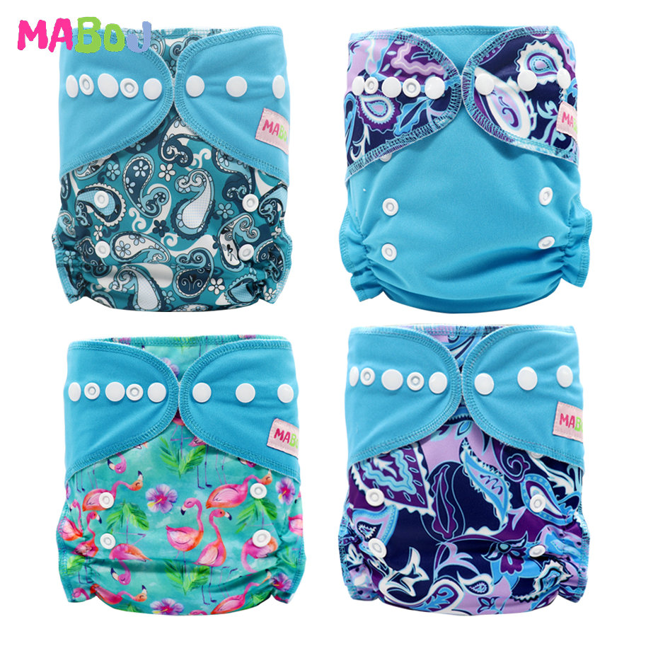 MABOJ Cloth Diapers Baby Pocket Diaper Lot Double Gusset Blue Nappy Washable Reusable Nappies Waterproof Wholesale Dropshipping