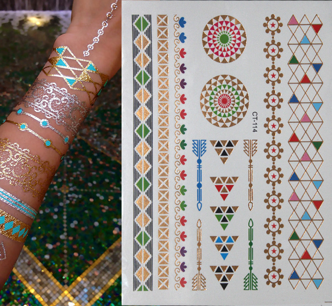 17 Waterproof temporary tattoos stickers sexy romantic dark rose flowers flash fenna tattoos fake body art Tattoo sleeve 3