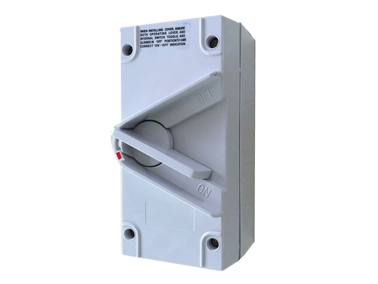 Free Shipping 2 Pole 250V 35A Australian Standard IP67 Industrial Isolation Switch Disconnect Switch UK2-63