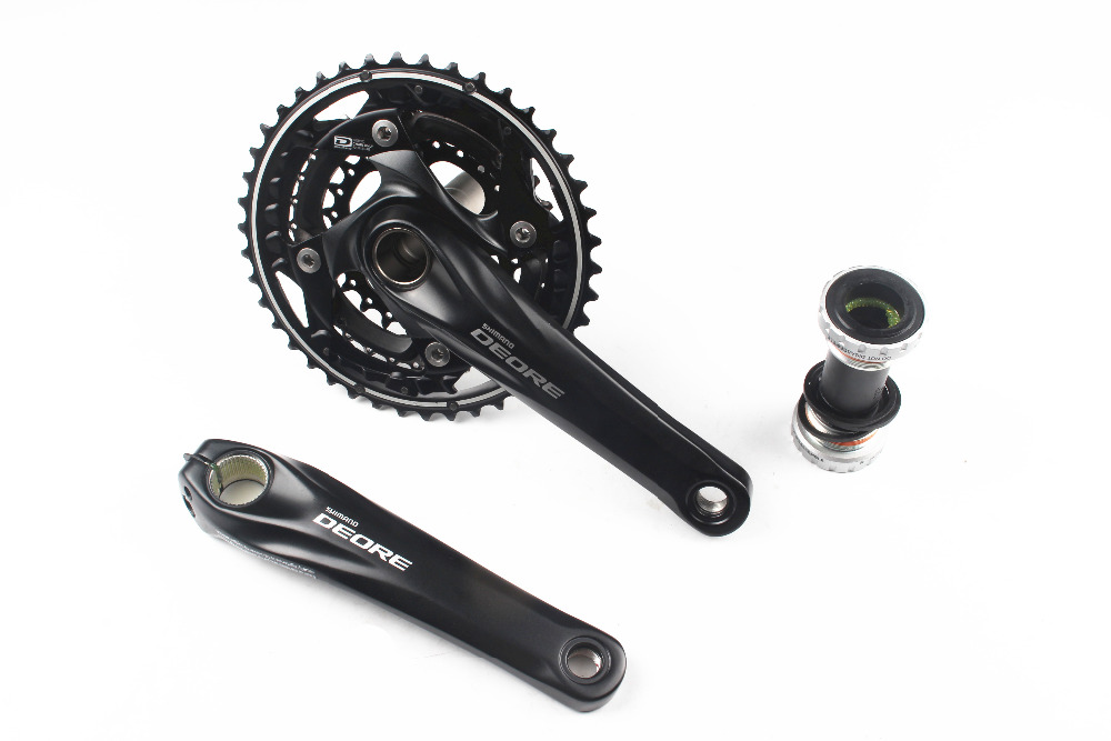 SHIMANO DEORE FC-M610 M615 3x10 2x10 speed Black 30s/20s 170mm Chainset Crankset Chain Wheel foot candle with BB52 shimano deore fc m610 fc m612 m615 aluminium 3x10 2x10 speed crankset with bb51