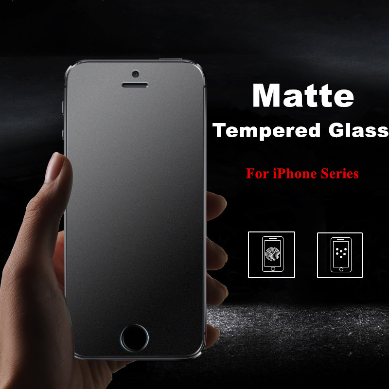 No Fingerprint Premium Matte Tempered Glass Screen Protector For iPhone 4S 5 SE 5S 5C 6
