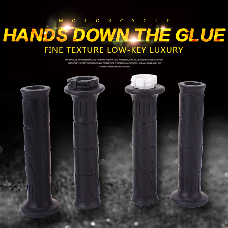 1 Set 7/8 22mm Handle Hand Grips Motorcycle Handlebar Grip Rubber Gel Sleeve For Kawasaki ZXR250 ZRX250 ZXR400 ZZR400 ZZR600 image