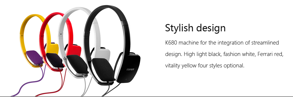 Perfect for Gaming and Music Edifier K680 Stylish Over-Ear Computer Headset Black