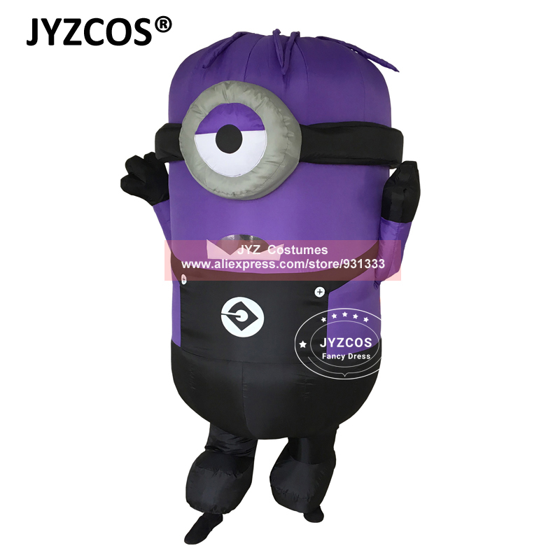 JYZCOS Inflatable Minion Halloween Costumes for Adult Despicable Me 2 Anime Cosplay Blow Up Mascot Purim Fancy Dress Cartoon (6)