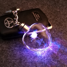 7 light LED key cover keychain for couples crystal key Flashlight chains key rings holder fantastic beasts tritium SNP SAN MERAH