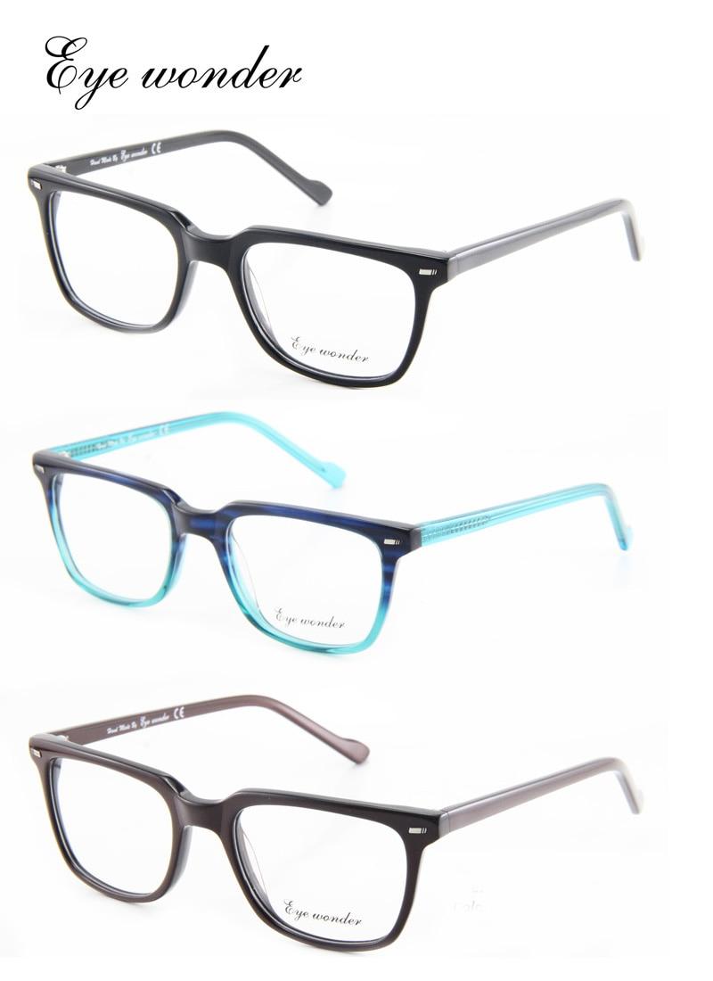 84a7b3d702598 Maravilha dos olhos por atacado homens artesanal armações de óculos ópticos  óculos vindima Occhiali Uomini