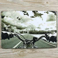 RO-0054 NEW arrival motorcycle and sky vintage home decor metal Tin signs for bar vintage decorative plates 20x30cm