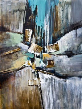 Hand painted abstract oil painting wall art pictures for hotels home decor Wall Art Picture