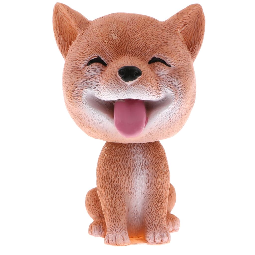 Shaking Head Shiba Inu Lucky Dog Puppy Bobbing Heads Bobblehead Toy Aniaml Figures Car Dashboard Auto Decoration cartoon dog plush pillow shiba inu