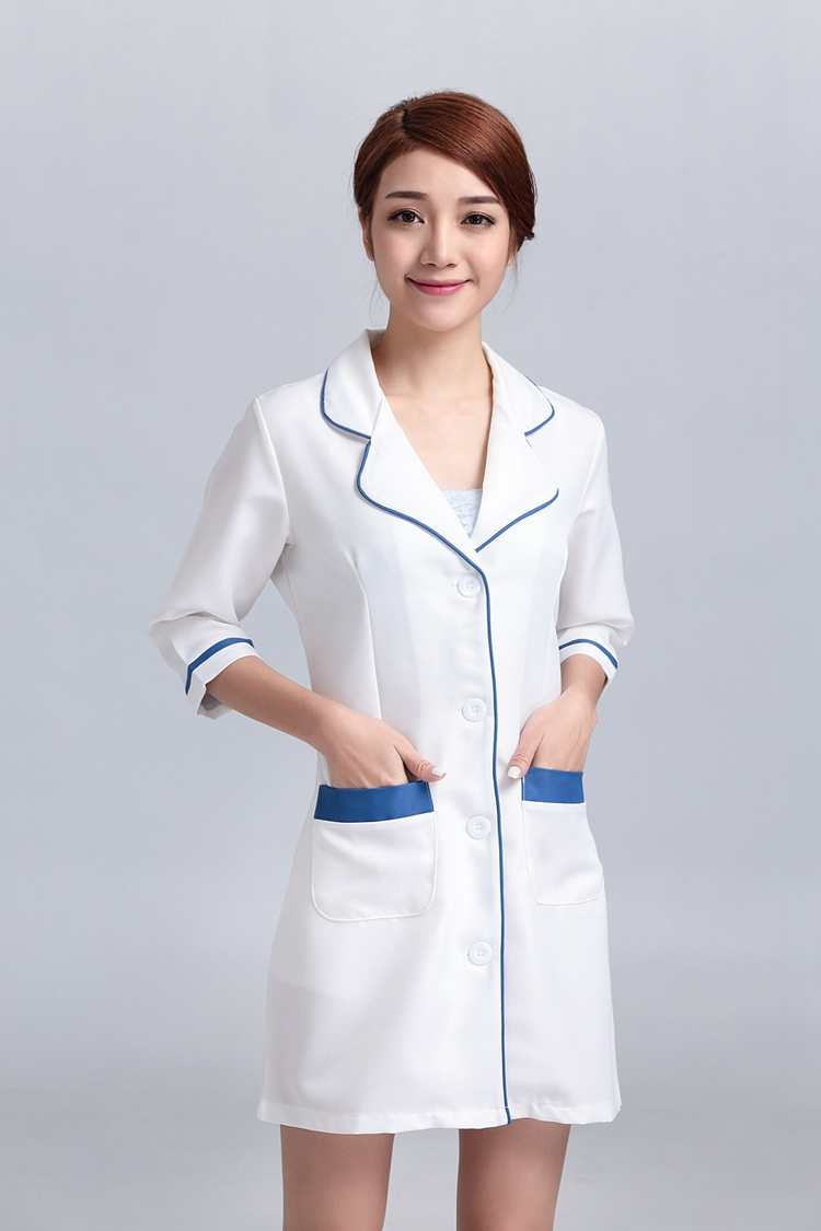 Women\'s Hospital Nursing Uniforms Overalls Gowns Outfit Suits White ...