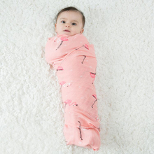 Newborn Muslin Swaddle Baby Multi-use Organic Bamboo Cotton Blanket Infant Parisarc Cross Wrap