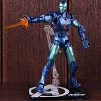 SHF Avengers Blue Stealth Color Iron Man MK3 PVC Collectible Model Toy Doll For Gift