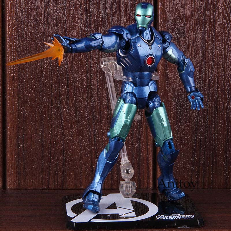 SHF S.H.Figuarts Avengers Blue Stealth Color Iron Man MK3 PVC Collectible Model Toy Doll For GiftSHF S.H.Figuarts Avengers Blue Stealth Color Iron Man MK3 PVC Collectible Model Toy Doll For Gift
