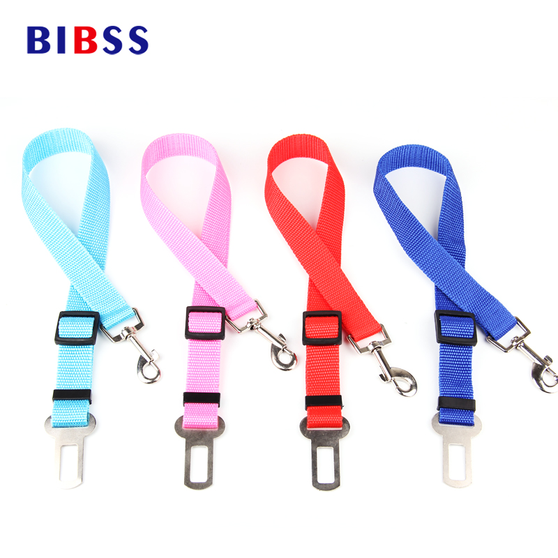 Pet Car Safety Belt Nylon Zwierzęta Pies Kot Seat Lead Leash Uprząż dla Puppy Kitten Vehicle Security Leash 65cm Regulowany