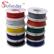 цена на 10 m/roll 32.8ft UL 1007 24awg Stranded Wire Electrical line PCB Cable Line Airline Tinned Copper Copper Wire DIY