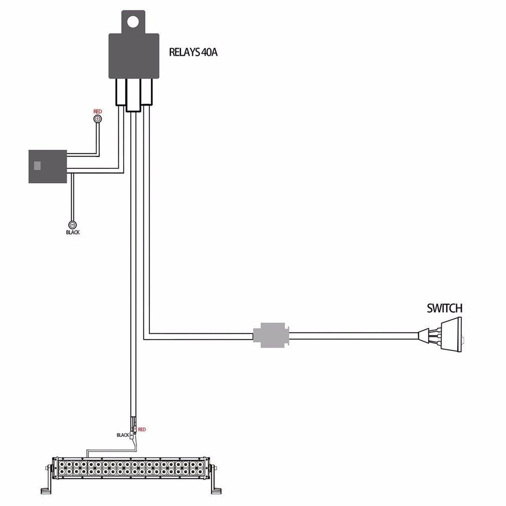 Fog Light Relay Harness Wire Kit Hid Led Lamp Worklamp Spot Work